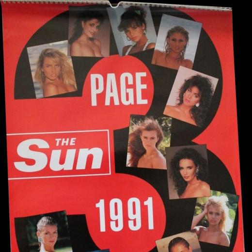Sun 1991 Calendar cover
